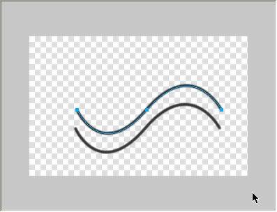一方の波線を選択した状態で、[ペンツール]にして、選択状態の波線の端を... 画像の途中を省略す
